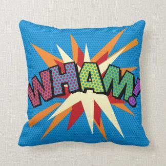 Comic Book Pop Art WHAM! ZAP! Cushion