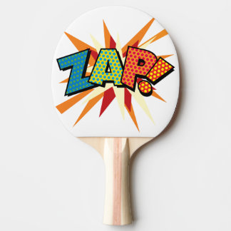 Comic Book Pop Art ZAP! Ping Pong Paddle