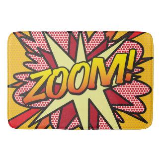 Comic Book Pop Art ZOOM! Bath Mat