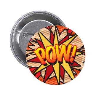 Comic Book POW Pinback Buttons
