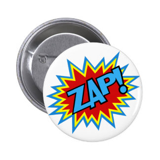 Comic Book Pow! Burst 6 Cm Round Badge