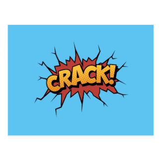 Comic Book Sound Effect - Crack! Pop Art Postcard