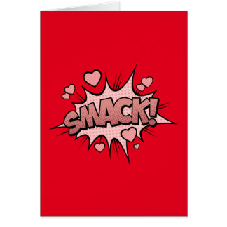 Comic Book Sound Effect - Smack! Pop Art Card
