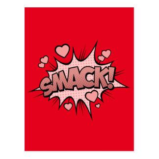 Comic Book Sound Effect - Smack! Pop Art Postcard