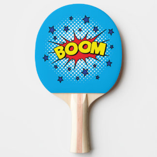 Comic Book Style Colorful BOOM Ping Pong Paddle