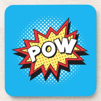 Comic Book Style Colorful POW Coaster