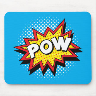 Comic Book Style Colorful POW Mouse Mat