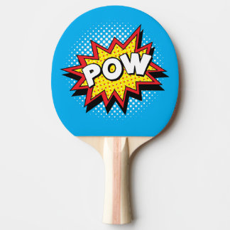 Comic Book Style Colorful POW Ping Pong Paddle
