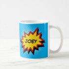 Comic Book Style Colourful Custom Name Coffee Mug