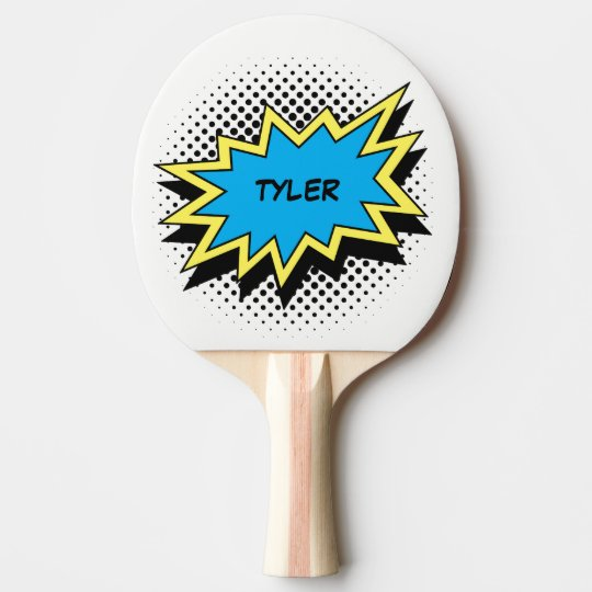 Comic Book Style Colourful Name White Ping Pong