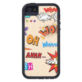 Comic Book Style Expressions Design Tough Xtreme iPhone 5 Case