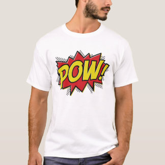 comic book style pow boom bang design t shirt