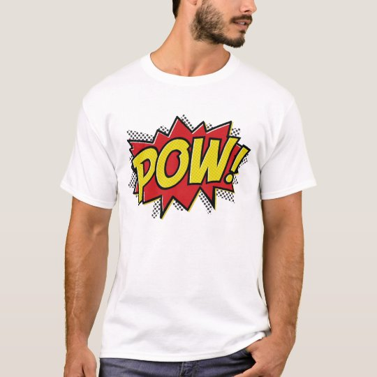 comic book style pow boom bang design t