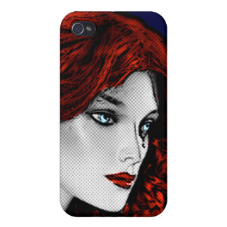 Comic Book Style Redhead Cover For iPhone 4
