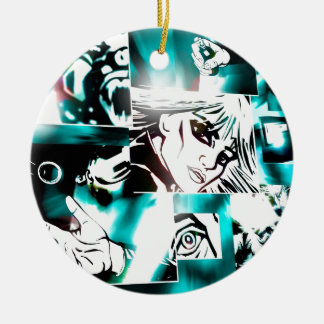 Comic Book Style Serie Christmas Ornament