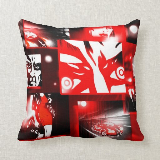 Comic Book Style Serie Throw Pillow