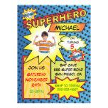 Comic Book Superhero Photo Insert Birthday Party Custom Invitations