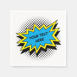 Comic Book Superhero Style Party Disposable Napkins