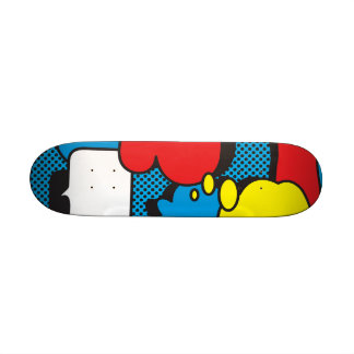 Comic Book Thought Bubbles 18.1 Cm Old School Skateboard Deck