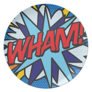 Comic Book WHAM! Plate