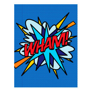 Comic Book WHAM! Postcard