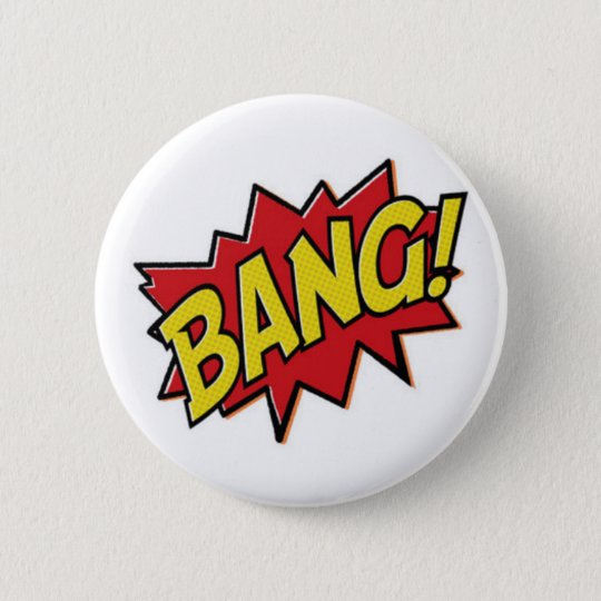 Comic Books Superhero Bang Button