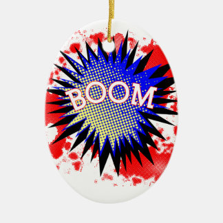 Comic Boom Christmas Ornament