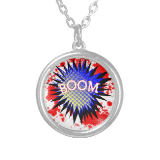 Comic Boom Silver Plated Necklace