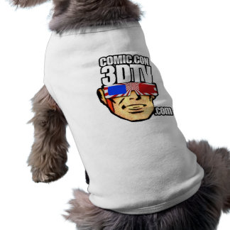 Comic Con 3DTV DOGGIE-SHIRT :-D Sleeveless Dog Shirt
