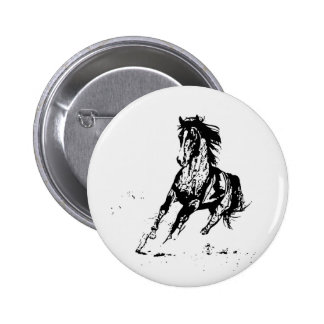 Comic Drawing Horse 6 Cm Round Badge