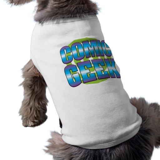 Comic Geek v3 Pet Tee Shirt