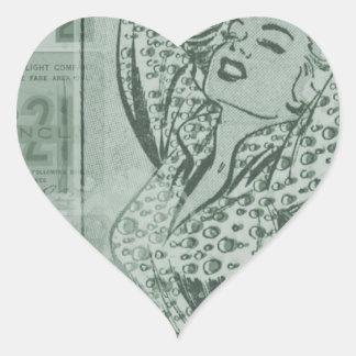 Comic Heart Sticker