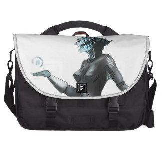Comic Heroine / Fish Lady Laptop Bag