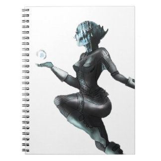 Comic Heroine Fish Lady Notebook