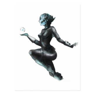 Comic Heroine / Fish Lady Postcard
