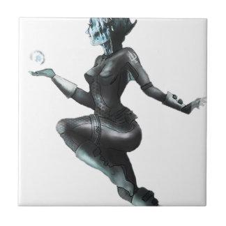 Comic Heroine / Fish Lady Ceramic Tile