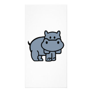 Comic hippo picture card