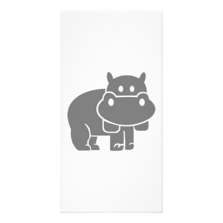 Comic hippo photo cards