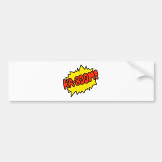 Comic 'Ka-Boom!' Bumper Sticker