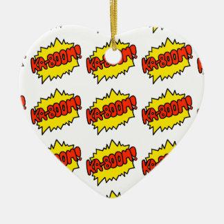 Comic 'Ka-Boom!' Ceramic Heart Decoration