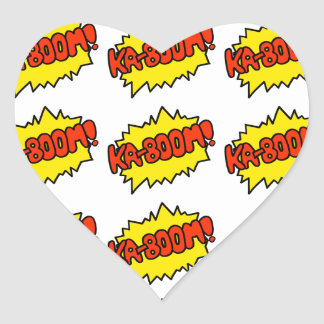 Comic 'Ka-Boom!' Heart Sticker