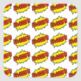 Comic 'Ka-Boom!' Square Sticker
