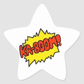 Comic 'Ka-Boom!' Star Sticker