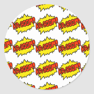Comic 'Ka-Boom!' Stickers