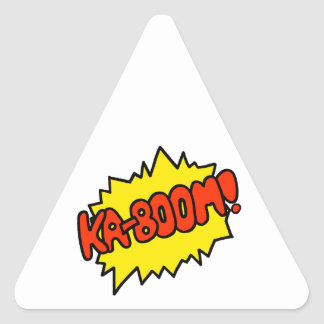 Comic 'Ka-Boom!' Triangle Sticker