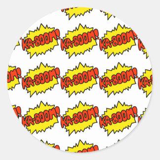 Comic 'Ka-Boom!' Round Stickers