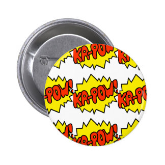 Comic 'Ka-Pow!' 6 Cm Round Badge