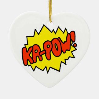 Comic 'Ka-Pow!' Ceramic Heart Decoration
