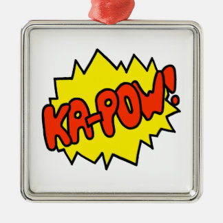 Comic 'Ka-Pow!' Christmas Ornament
