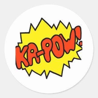 Comic 'Ka-Pow!' Classic Round Sticker
